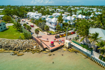 Aerial image Southnermost Point Key West Florida USA
