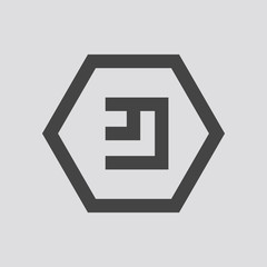 EmerCoin crypto currency icon, Vector