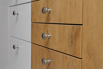 tiroirs coulissants cuisine moderne bois