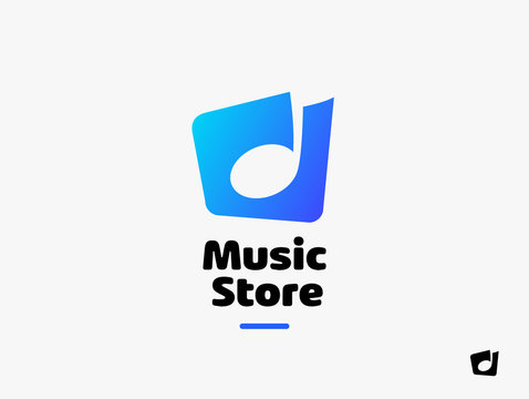 Music Logo. Sound Melody Note Vector Key Symbol. Music Store Logo concept.
