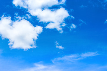 Beautiful Blue Sky Background Template With Some Space for Input Text Message.