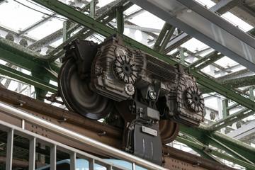 Motor suspension railway