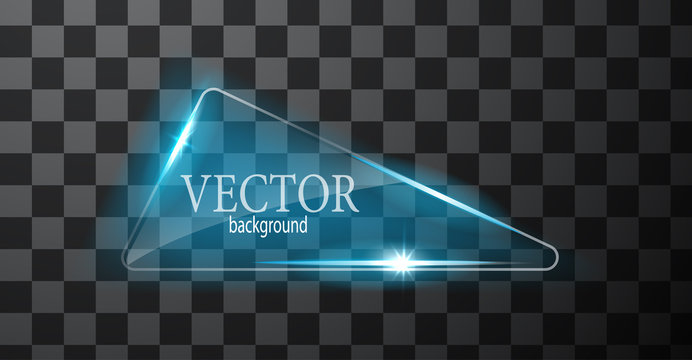 Vector abstract neon triangle