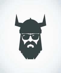 Bearded Viking wearing sunglasses