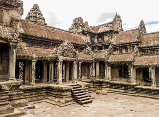 Ruins of Angkor Wat Temple, Siem Reap, Cambodia