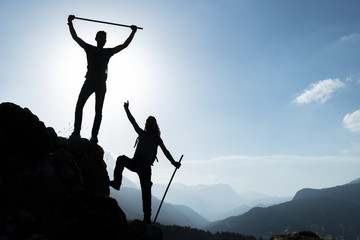 successful climb team spirit