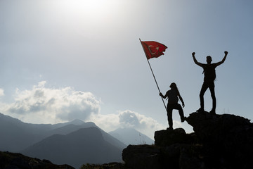 reaching high-altitude mountains and victory