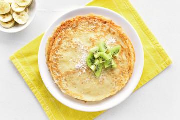 Thin pancakes, sweet crepes