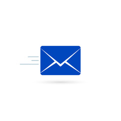 Envelope icon, Vector isolated flat Mail symbol isolated on white