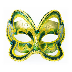 Carnaval mask isolated on white