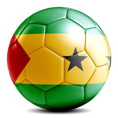 Sao Tome soccer ball football futbol isolated