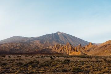 Mount Teide volcano in Tenerife at sunset