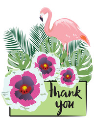 Vector Thank You Card