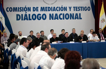 A general view during the national dialogue in Managua