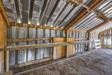 Interior edge of barn