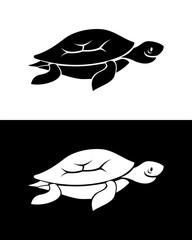 Vector turtle silhouette