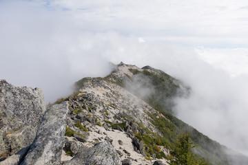 地蔵岳 オベリスク 鳳凰三山