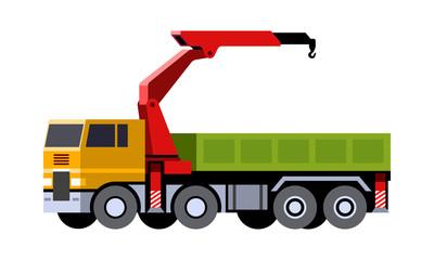 Knuckle boom crane truck