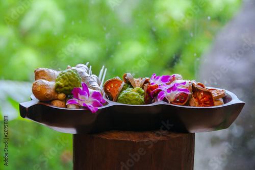 Natural medicine concept  Natural remedy, healing herbs