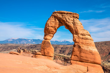 La pose en embrasure Parc Naturel Delicate arch