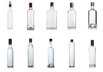 set of vodka bottles