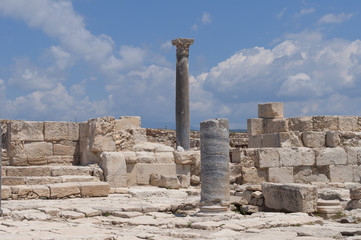 Ruins of ancient Curion, Sunny day. Cyprus