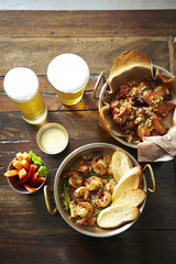 chicken and beer