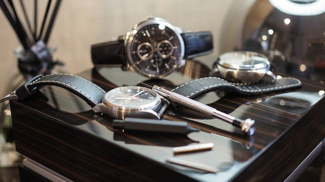 Closeup of luxury watches and tools.(Selected focus)