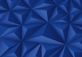 Abstract blue triangle polygon pattern luxury background vector illustration.