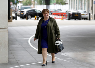 Britain's  Labour Shadow Foreign Secretary Emily Thornberry arrives at BBC Televsion studios to appear on the Marr Show in central London