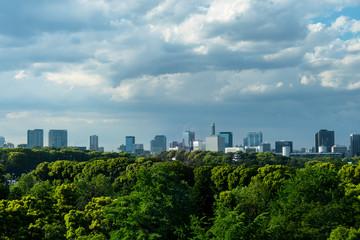 東京 日比谷から見る都心のビル群1