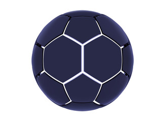 Vector futuristic sports concept of a soccer ball. Modern digital ball. High tech football ball design. Abstract Soccer Ball