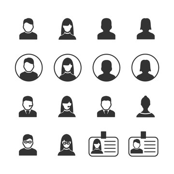 Vector image set of user icons.