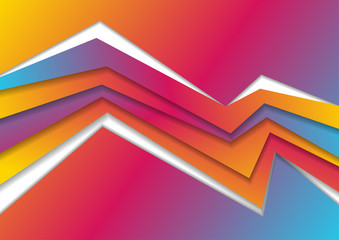 Vibrant gradient abstract corporate geometric background