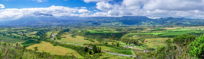 Papiers peints Amérique du Sud Panorama of Cotacachi volcano in Ecuador, South America