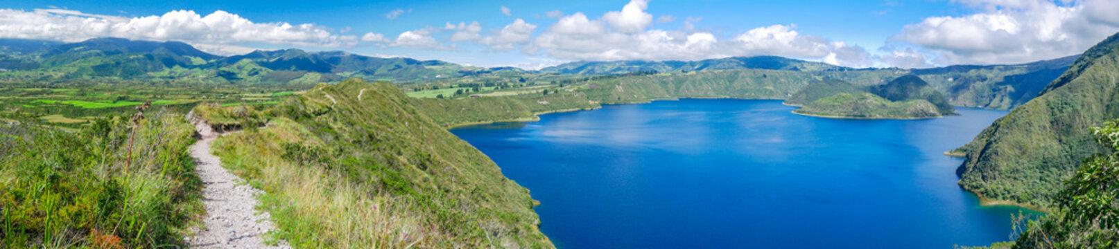 Laguna Cuicocha (Cotacachi) in Ecuador, South America