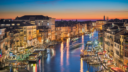Night skyline of Venice, Italy