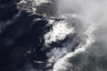 Ocean Entry of volcanic eruption of Kilauea volcano, Fissure 8, May 2018