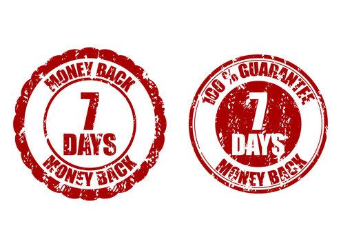 Money back guarantee 7 days