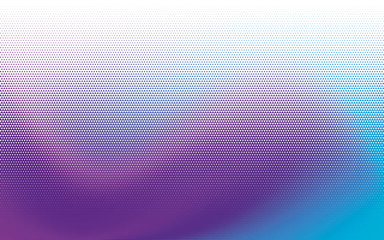 Geometric background with small triangles. Different shades of purple and blue. Digital gradient. Halftone pattern.