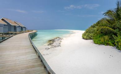 Unique beauty of blue lagoon in Maldives