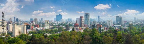 Wall mural Panoramic view of Mexico city.