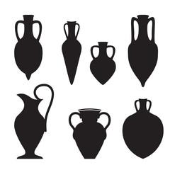 Fototapeta Set or different shape amphoras obraz