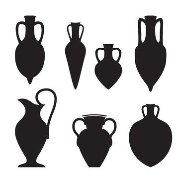 Set or different shape amphoras