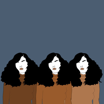 Illustration of three women