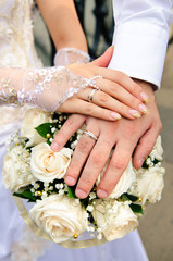 newlyweds, day, summer, white, gloves, ceremony, holiday, ring, hand, dress, flower, romantic, rose, photo session, photo, beautiful, beauty, female, wedding, bouquet, bride, groom, marriage, bridal,