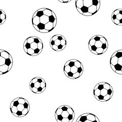 seamless pattern football on white background for kids fashion, vector illustration
