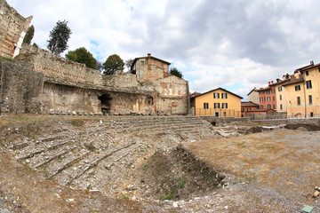 ancient Roman theatre of Brescia, unesco world heritage, Italy