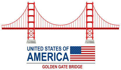 Golden gate bridge america