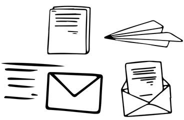 A Set of Doodle Mail